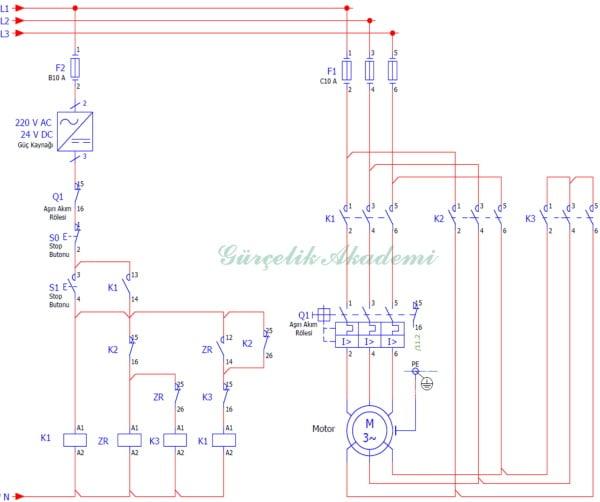 3 Fazlı Asenkron Motora Yıldız-Üçgen Yol Verme