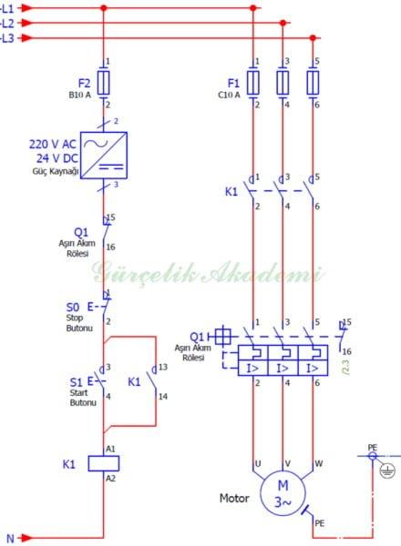 3 Fazlı Asenkron Motorun Bir Yönde Sürekli Çalışması